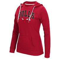 Women's adidas Chicago Bulls Outline Big Arch Hoodie