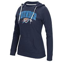 Women's adidas Oklahoma City Thunder Outline Big Arch Hoodie