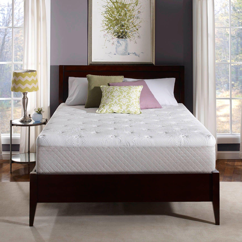 serta oasis 12inch gel memory foam mattress