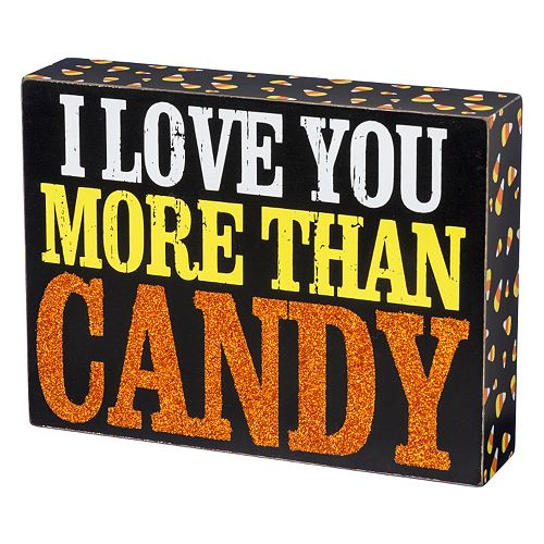 More Than Candy Halloween Box Sign Art