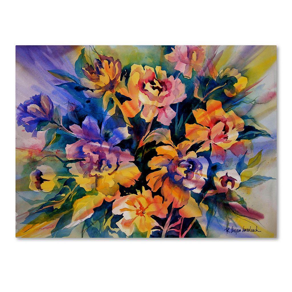 Trademark Fine Art Peonie Burst Canvas Wall Art