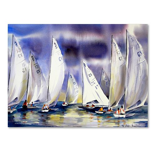 Trademark Fine Art Regatta Canvas Wall Art