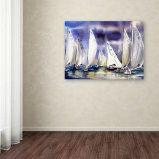 Trademark Fine Art Regatta Canvas Wall Art