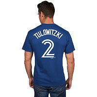 Men's Majestic Toronto Blue Jays Troy Tulowitzki Player Name and Number Tee
