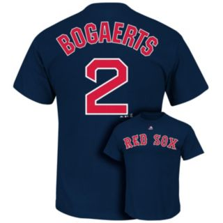Men's Majestic Boston Red Sox Xander Bogaerts Player Name and Number Tee