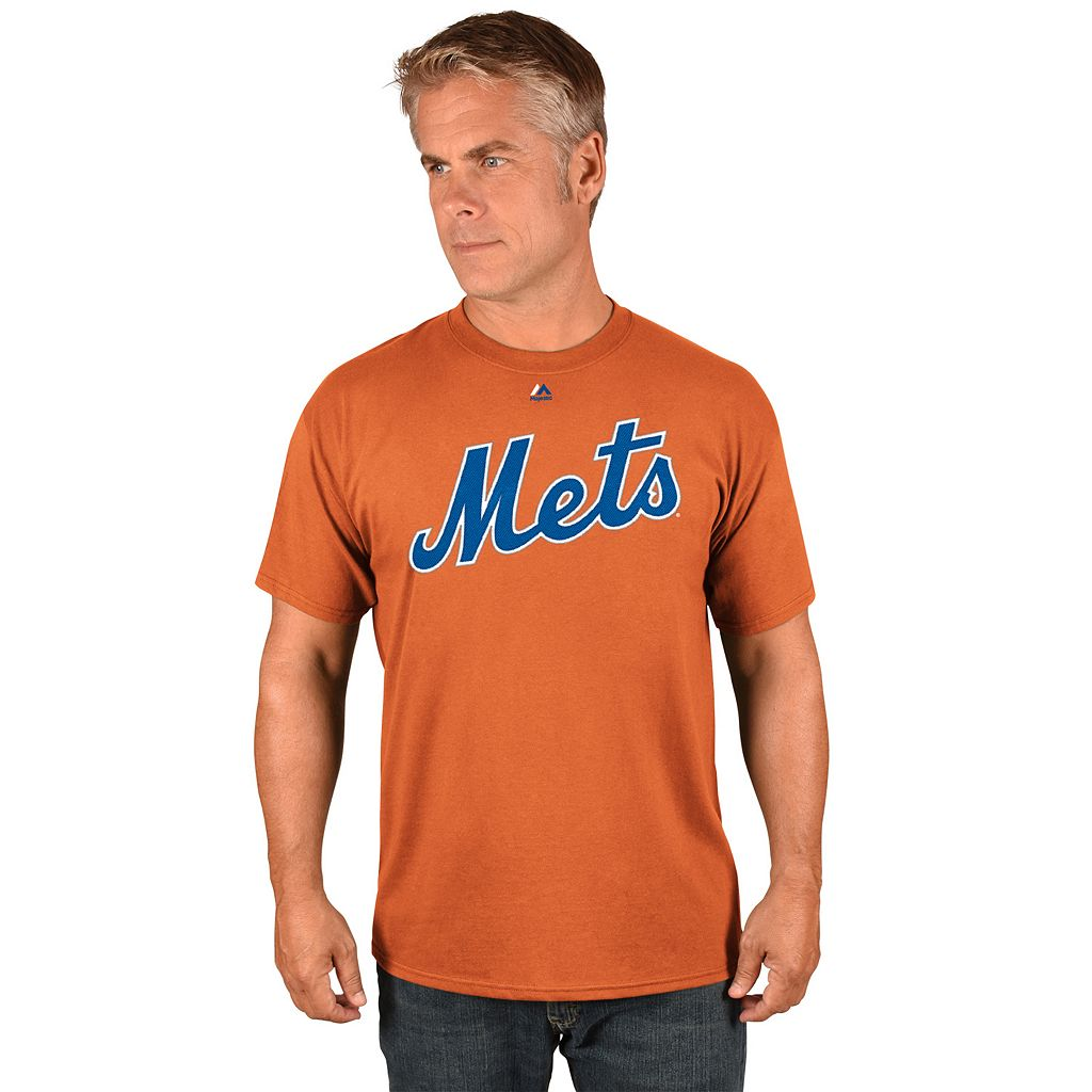 Men's Majestic New York Mets Noah Syndergaard Player Player Name and Number Tee