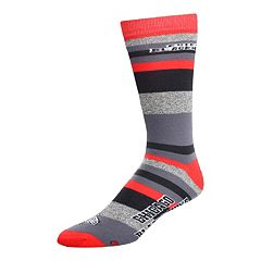 Men's For Bare Feet Chicago Blackhawks Mountain Stripe Dress Socks