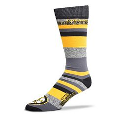 Men's For Bare Feet Boston Bruins Mountain Stripe Dress Socks
