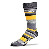 Men's For Bare Feet Pittsburgh Penguins Mountain Stripe Dress Socks