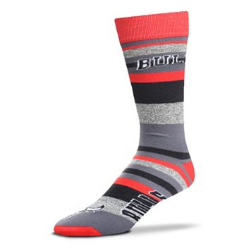 Men's For Bare Feet Chicago Bulls Mountain Stripe Dress Socks