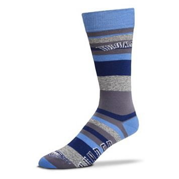 Men's For Bare Feet Oklahoma City Thunder Mountain Stripe Dress Socks