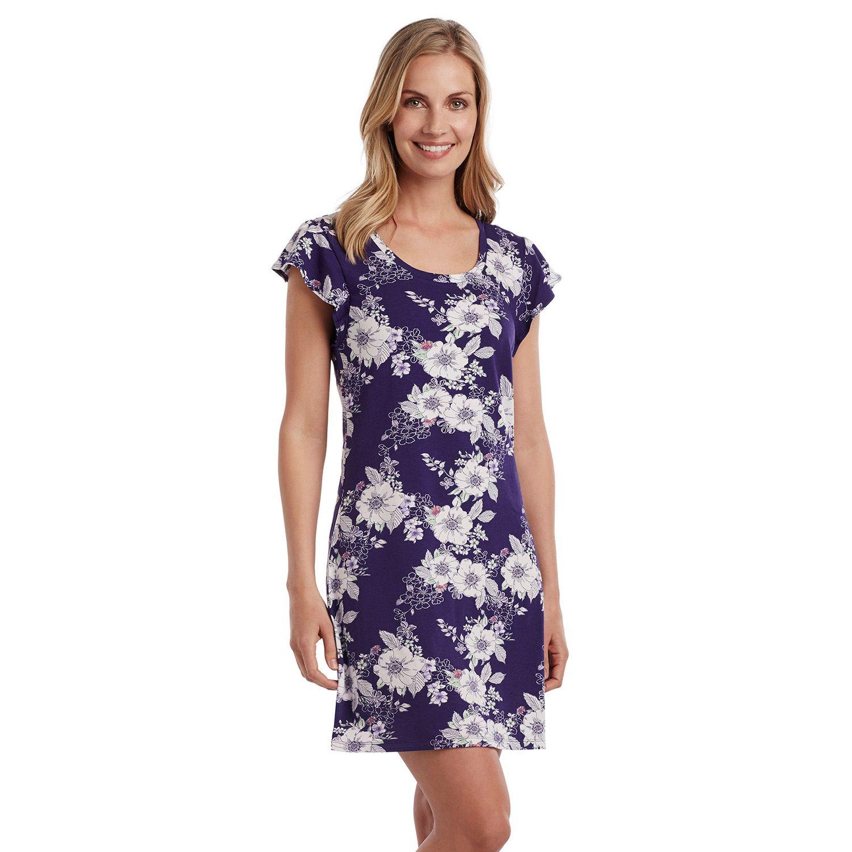 Womens Jockey Pajamas: Floral Flutter Sleep Shirt