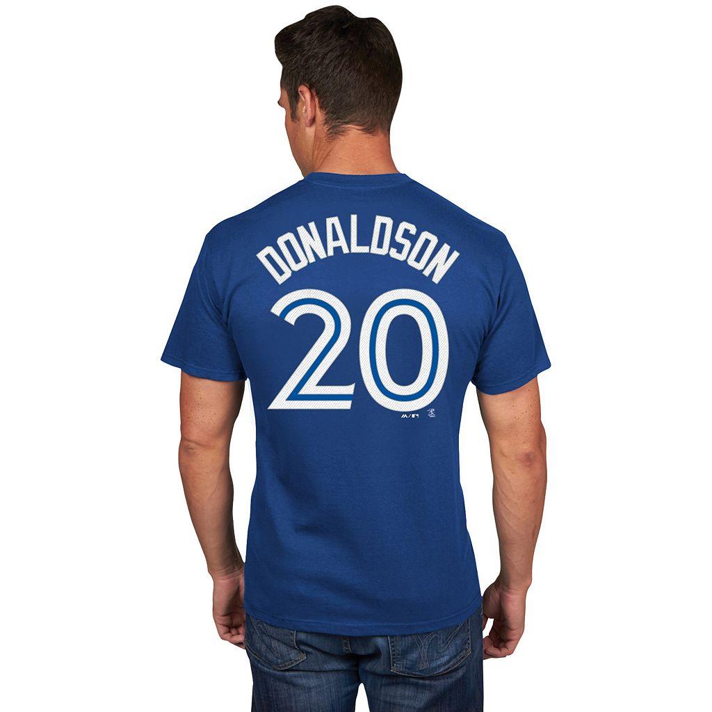 Men's Majestic Toronto Blue Jays Josh Donaldson Player Name and Number Tee