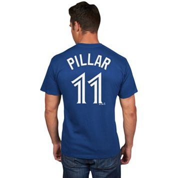 Men's Majestic Toronto Blue Jays Kevin Pillar Player Name and Number Tee