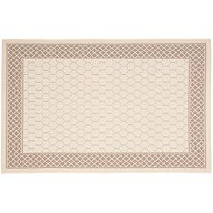 Safavieh Courtyard Trellis Border Indoor Outdoor Rug