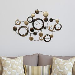 Stratton Home Decor Circles Metal Wall Art