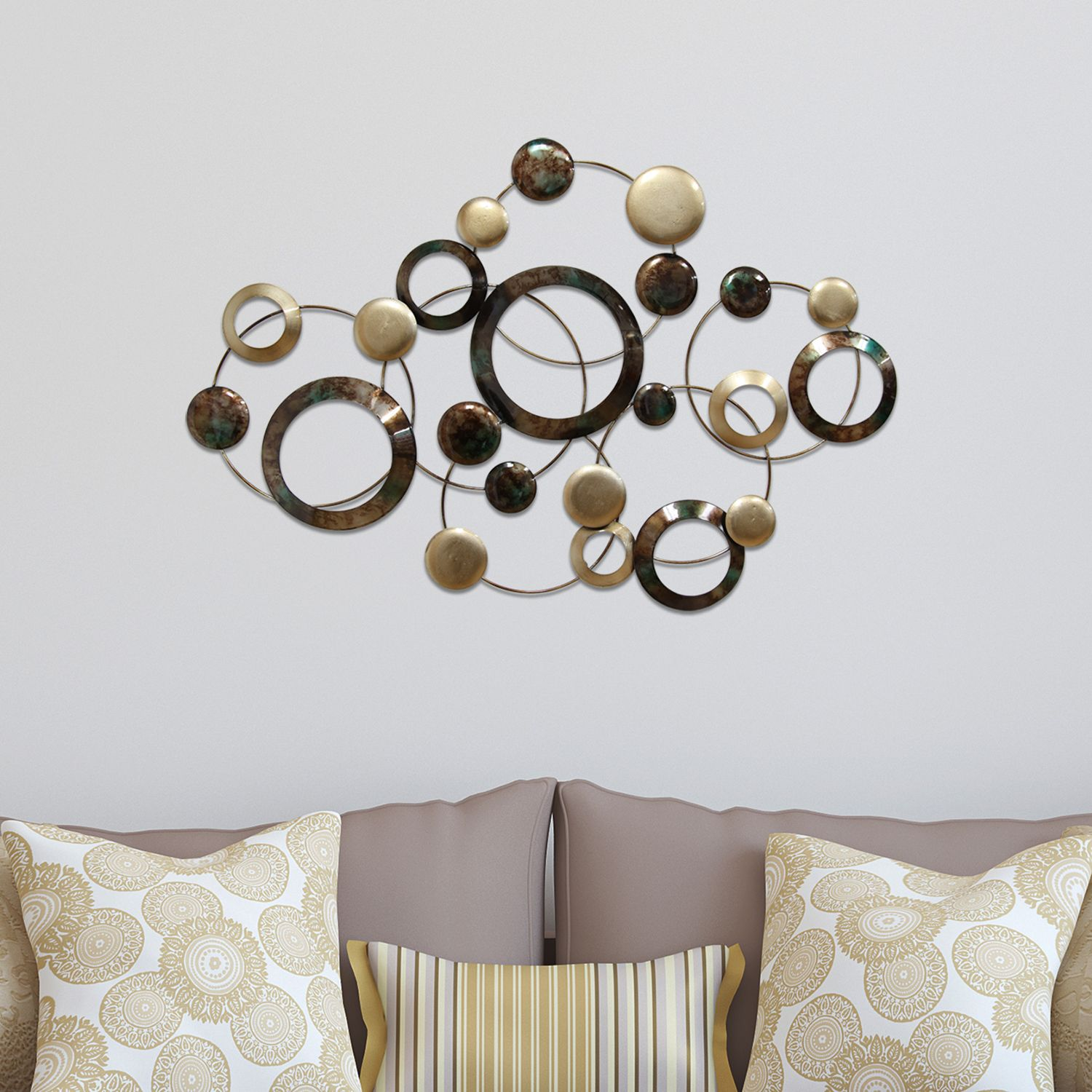 Stratton Home Decor Circles Metal Wall Art