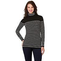 Women's Haggar Striped Turtleneck Sweater
