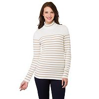Women's Haggar Striped Turtleneck Sweater