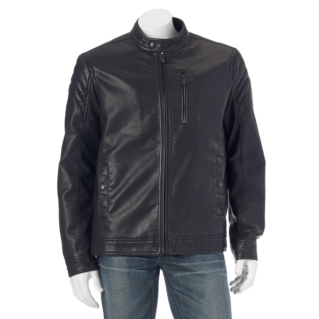 Men's Apt. 9® Modern-Fit Faux-Leather Jacket