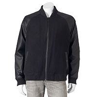 Men's Apt. 9® Modern-Fit Mixed Media Raglan Wool-Blend Bomber Jacket