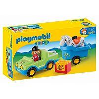 Playmobil Car with Horse Trailer Playset - 6958