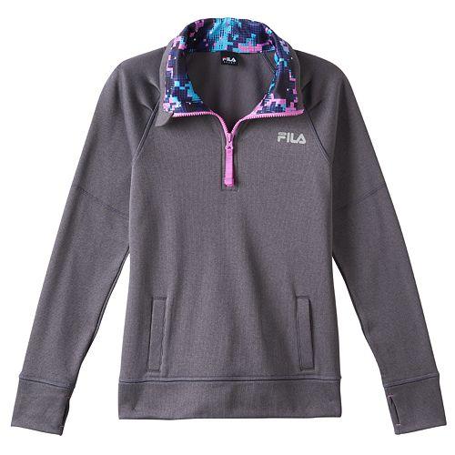 215d6b2868198 Girls 7-16 FILA SPORT® Fleece-Lined Mockneck 1/4-Zip Pullover
