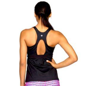 Women's Colosseum Coral Way Cinch-Waist Yoga Tank