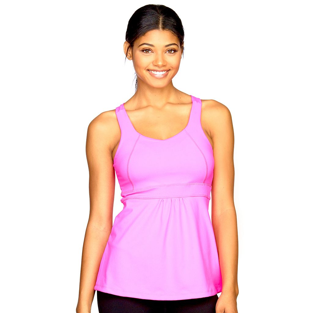 Women's Colosseum Coral Way Cinch-Waist Yoga Tank