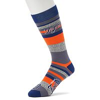 Men's For Bare Feet Detroit Tigers Mountain Stripe Dress Socks
