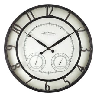 FirsTime Park Outdoor Wall Clock