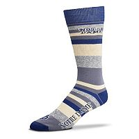 Men's For Bare Feet Notre Dame Fighting Irish Mountain Stripe Dress Socks