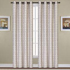 United Curtain Co. Oakland Ovals Jacquard Window Curtain