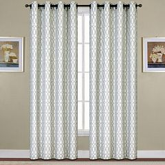 United Curtain Co. 1-Panel  Oakland Ovals Jacquard Window Curtain
