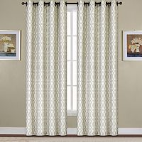 United Window Curtain Co. Oakland Ovals Jacquard Window Curtain