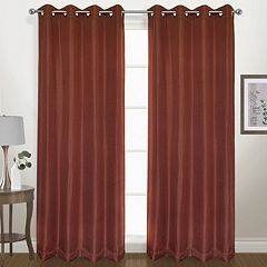 United Curtain Co. Blackout 1-Panel Herringbone Window Curtain