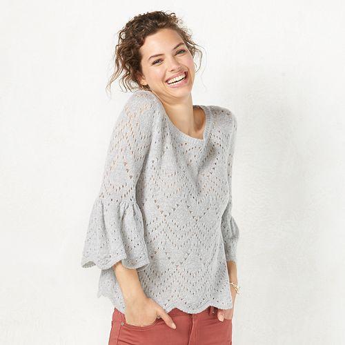 Women's LC Lauren Conrad Eyelet Popover Sweater