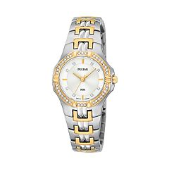Pulsar Women's Crystal Two Tone Stainless Steel Watch - PTC388