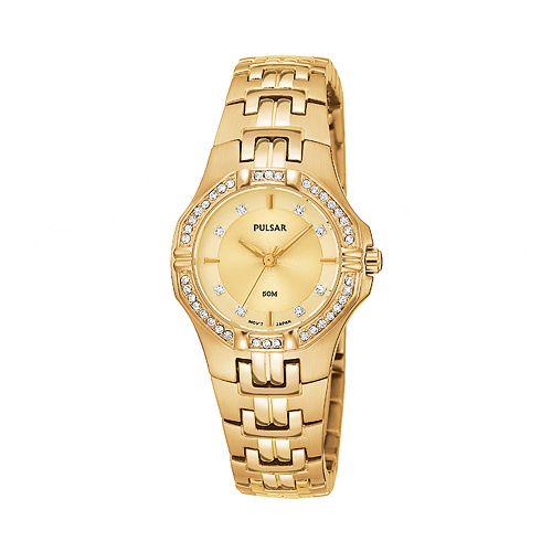 Pulsar Women's Crystal Stainless Steel Watch - PTC390