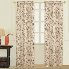 United Curtain Co. 2-pack Fiona Floral Linen Window Curtains