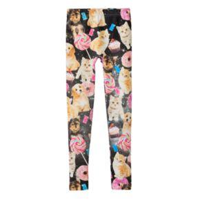 Girls 7-16 Cosmo Critter Fleece-Lined Leggings