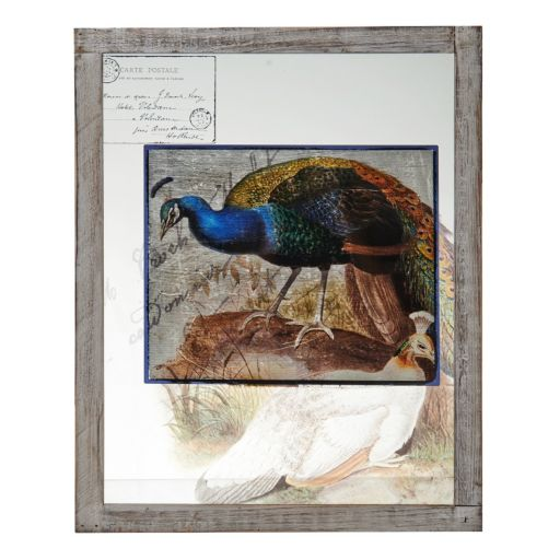Bombay™ Blue Peacock Glass Plaque Wall Art