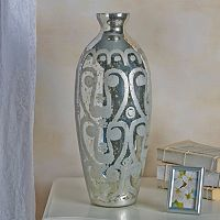 Bombay™ Etched Paisley Mercury Glass Vase