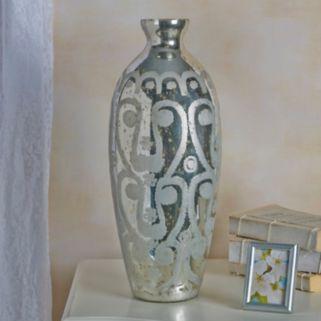 Bombay™ Etched Paisley Mercury Glass Vase