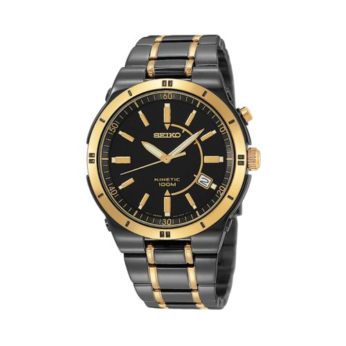 Seiko Watch - Men's Kinetic Two Tone Stainless Steel - SKA366