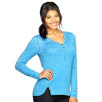 Women's Colosseum Bella Glade Henley Yoga Top