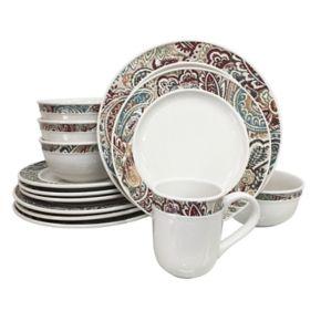 Food Network™ Paisley 16-pc. Dinnerware Set