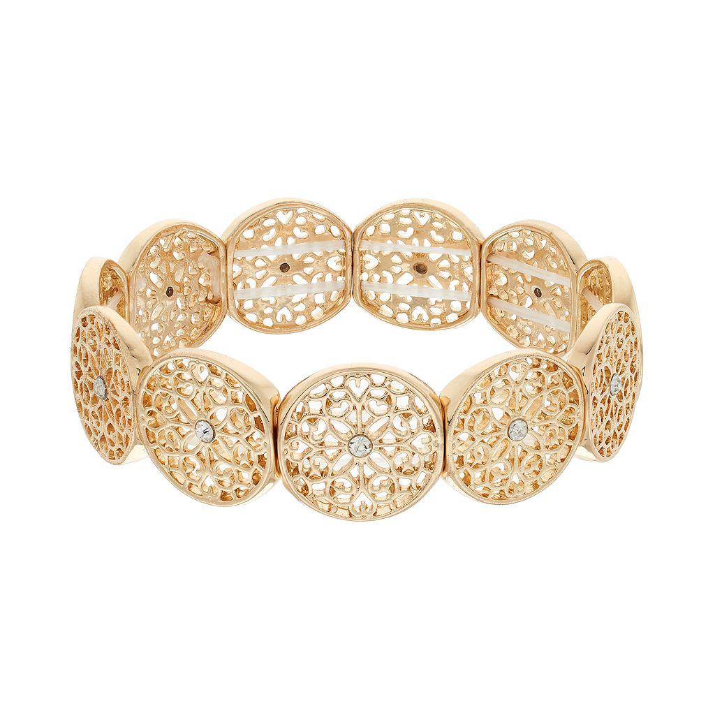 LC Lauren Conrad Filigree Disc Bracelet