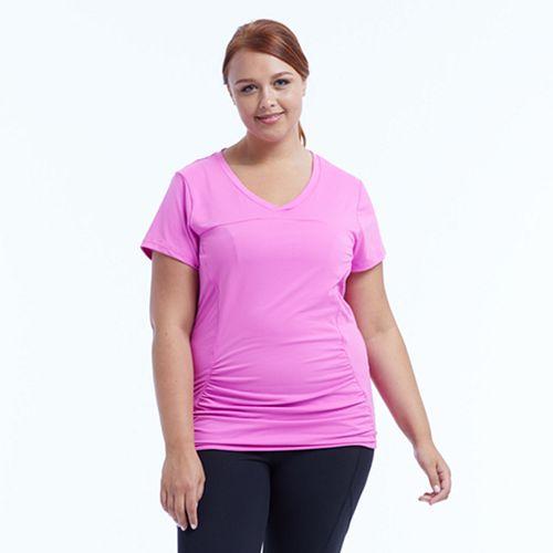 Plus Size Marika Curves Elizabeth Shirred Workout Tee