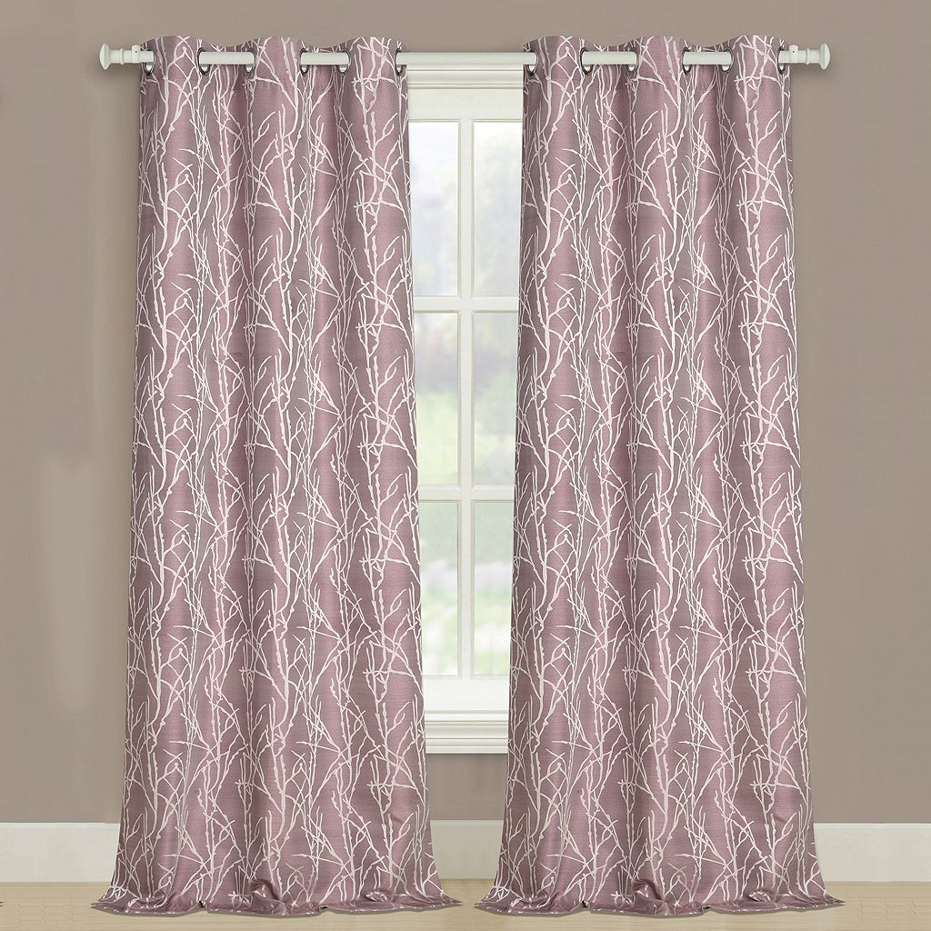United Curtain Co. 2-pack Taylor Twig Floral Curtains